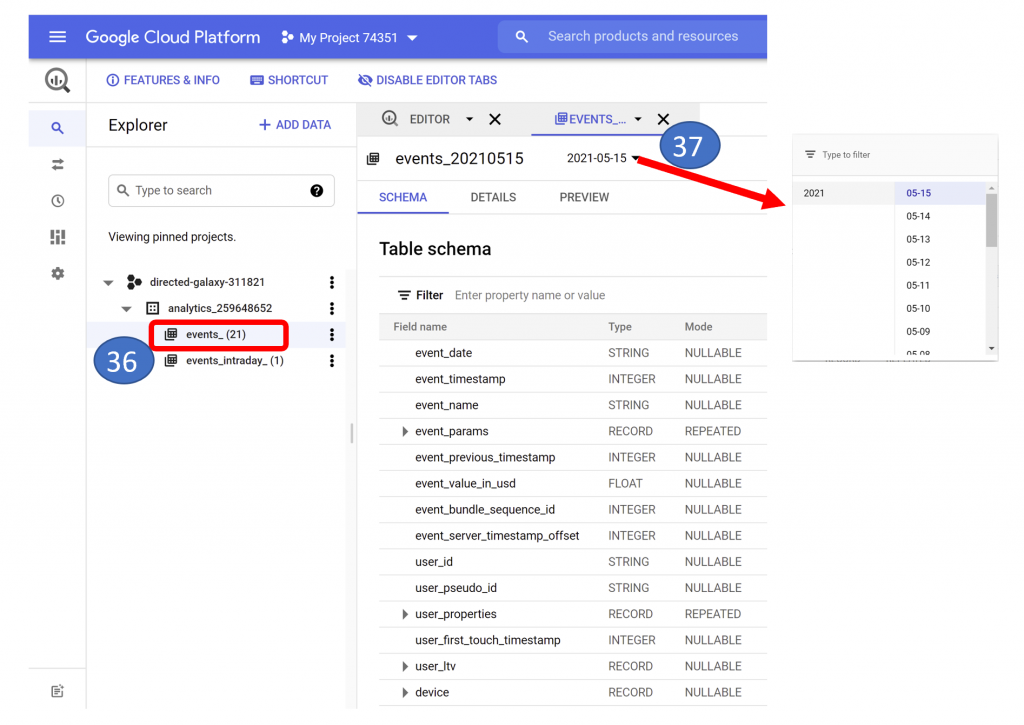 25. BigQuery Analytics Project - Events