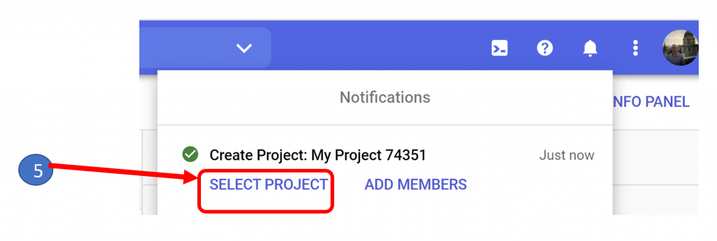 4. Select Project